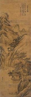 山静日长图 (landscape) by zhou xun