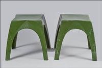 lotus-jakkarapari (a pair of lotus stools) by yki nummi