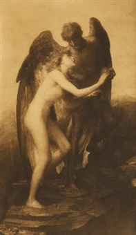 love and life (after painting by george frederick watts) by frederick hollyer