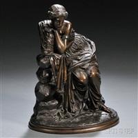 model of a classical woman by e. de la labroue