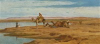 waiting for the dahabeah by frederick goodall
