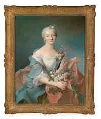 porträt einer eleganten dame by françois hubert drouais