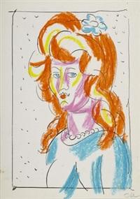 weibliches porträt by josef oberberger