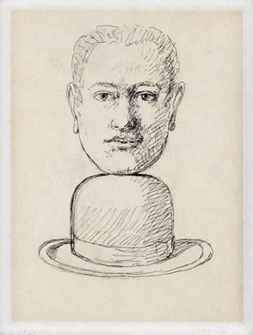 homme au chapeau melon from le lien de paille by rené magritte