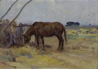 cavallo al pascolo by filippo anivitti