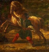 der pferdebändiger by eugène delacroix