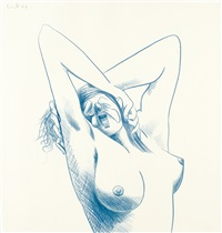 blue nude study by george condo