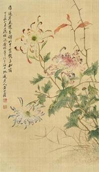 菊花 by huang shanshou
