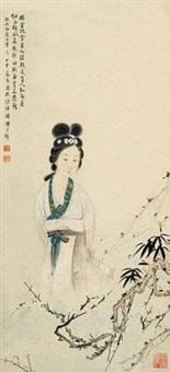 赏梅图 立轴 设色纸本 by huang junbi