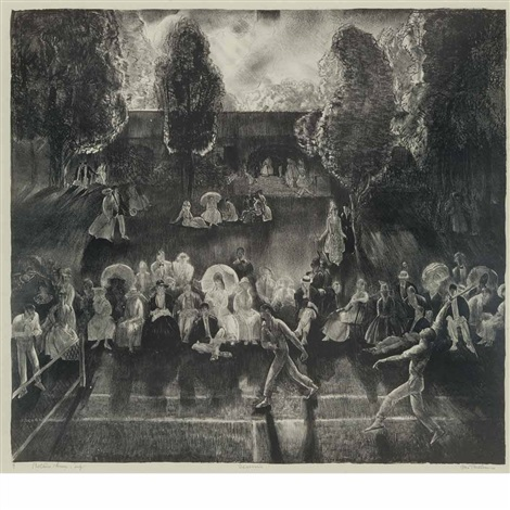 tennis tennis tournament by george wesley bellows