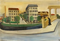 stadtlandschaft by alfred lomnitz