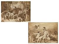 paar antik-mythologische szenerien (pair) by johann nepomuk ender