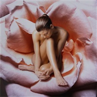 nude woman in rose by beth ava