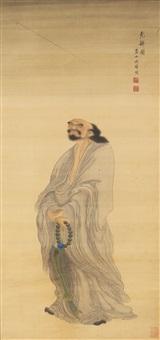 a flying monk's staff by zhou xun