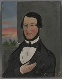 portrait of capt. thomas w. lewis, owner and master of the bark