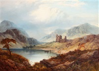 loch oich with invergarry castle by george blackie sticks