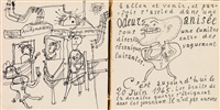 la métromanie ou les dessous de la capitale (portfolio w/text and illus.) by jean dubuffet