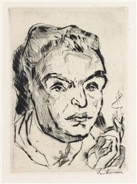 portrait of kasimir edschmid * pierrot und maske * tanzende * liebespaar (4 works) by max beckmann