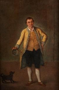 giovane gentiluomo con cane (junger edelmann mit hund) by pietro longhi