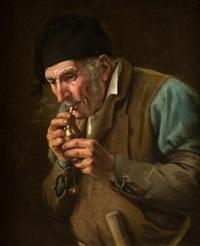 viejo fumador by joaquín agrasot y juan