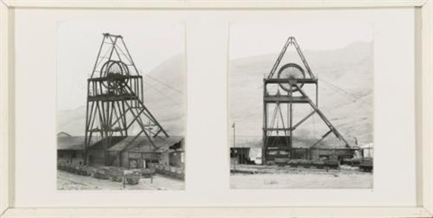 glenn rhondda colliery treherbert south wales in 2 parts by bernd and hilla becher