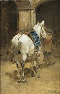 caballo blanco by joaquín agrasot y juan