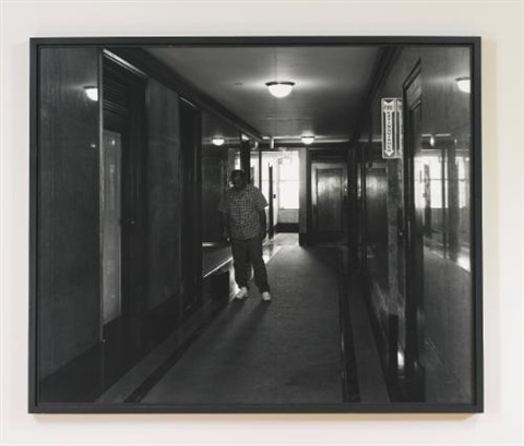 office hallway spring street los angeles by jeff wall