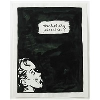 untitled (how high they placed her!) by raymond pettibon
