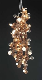 coconut chandelier by wade guyton