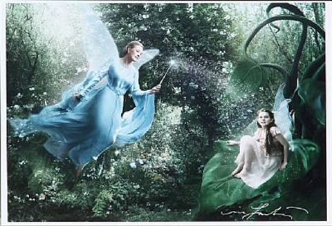 julie andrews and abigail breslin as disney fairies from the disney dream portrait series by annie leibovitz