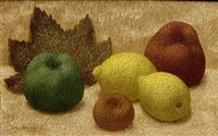 still life with apples by john armstrong