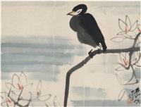 玉兰与鸟 by lin fengmian