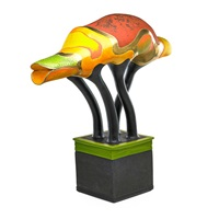 large sculpture from the animal series (cameloid) by ralph bacerra