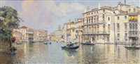 the grand canal in front of the palazzo balbi by antonio maría de reyna manescau