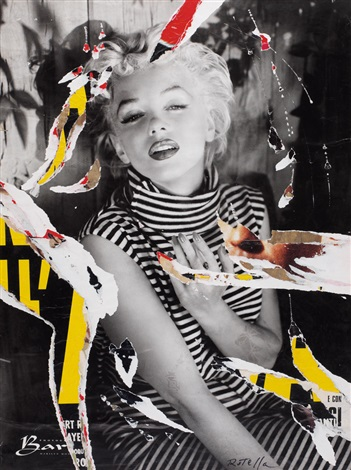marilyn love by mimmo rotella