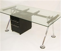 a nomas chrome frame desk by norman foster