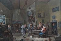 wirtshausinterieur mit zechenden bauern by egbert van heemskerck the younger