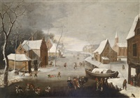 winterlandschaft by jan abrahamsz beerstraten