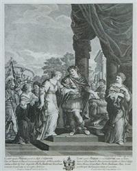 cesare ripudia pompea e prende in moglie calpurnia by cristoforo dall' acqua