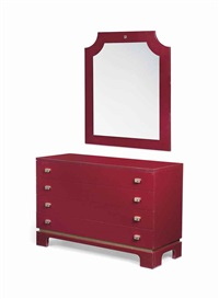 commode and mirror (in 2 parts) by paco rabanne