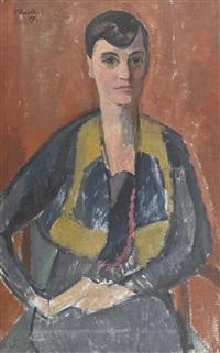 porträt der dora von der mühll by paul basilius barth