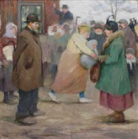 auction på bondebygden by karl johannes andreas adam dørnberger