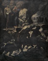 dante und vergil mit den drei kentauren by arnold böcklin the elder