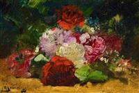 stillleben mit rosen by georges jeannin