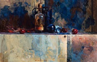 still life with three cherries by ben (barend jan) snyders