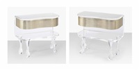 bedside tables (pair) by mattia bonetti