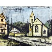 la houssaye, l'eglise / la houssaye, church by bernard buffet