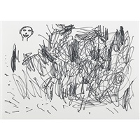 untitled (scribble and head) by david shrigley