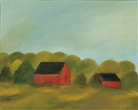 red barns by maureen gallace