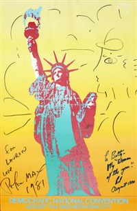 democratic national convention poster by peter max